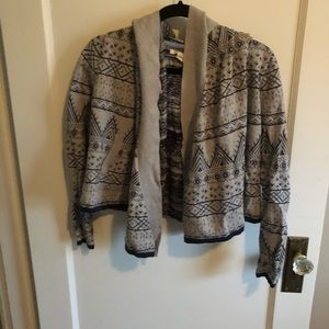Levi's Cape Hooded Cardigan Gray In Aztec Print